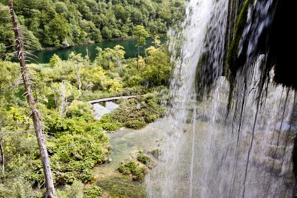 Stock fotó: Részlet · nagy · vízesés · Horvátország · unesco · víz