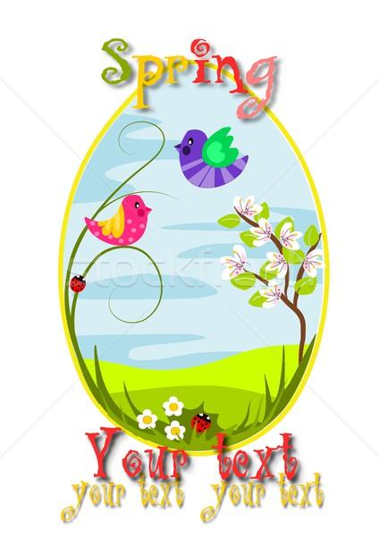 Foto stock: Primavera · ovo · beleza · paisagem · flor · feliz