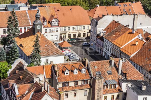 Polonya görmek ev şehir Stok fotoğraf © tomasz_parys