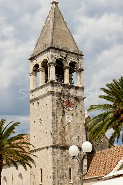 View on bell tower - Trogir Stock photo © tomasz_parys