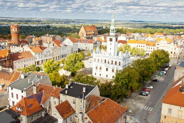 City hall building - Chelmno, Poland. Stock photo © tomasz_parys