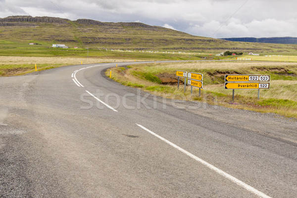 Crossroad - Iceland. Stock photo © tomasz_parys