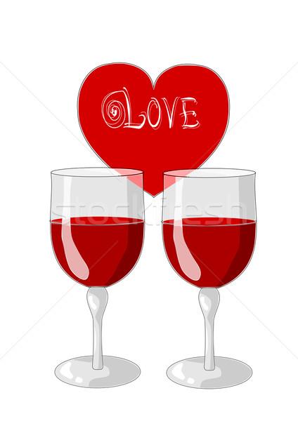 Two glasses of wine  Stock photo © tomasz_parys