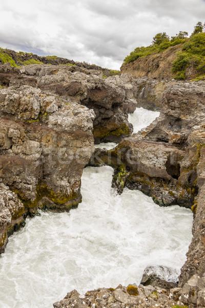 急速 川 アイスランド 滝 光 緑 ストックフォト © tomasz_parys