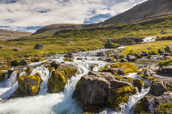 Stock photo: Rapid clean river - Iceland, Westfjords.