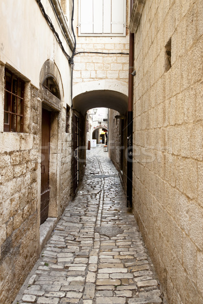 Trottoir Croatie étroite vieux unesco Photo stock © tomasz_parys