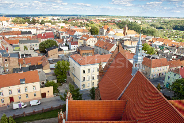 Chelmno old town - aerial view. Stock photo © tomasz_parys