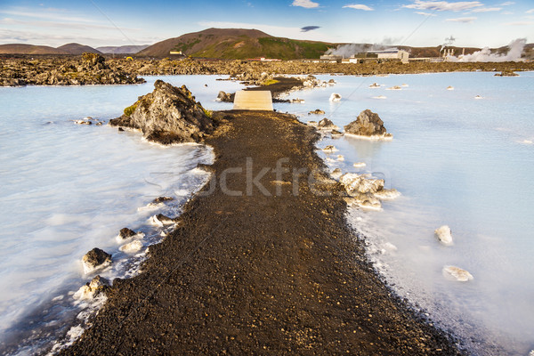 Islande spa bleu exclusif gravier chemin Photo stock © tomasz_parys