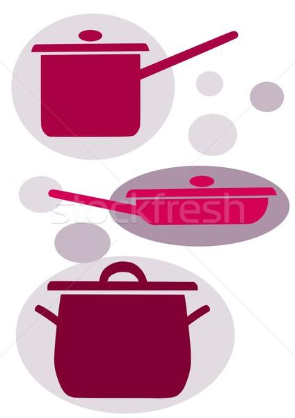 簡單 向量 圖標 背景 廚房 商業照片 © tomasz_parys