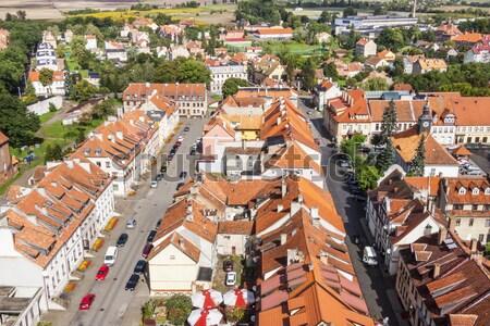 Kasaba kuzey Polonya ev Stok fotoğraf © tomasz_parys