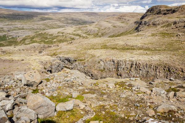 Stock fotó: Kilátás · hegyek · Izland · természet · tájkép · hegy