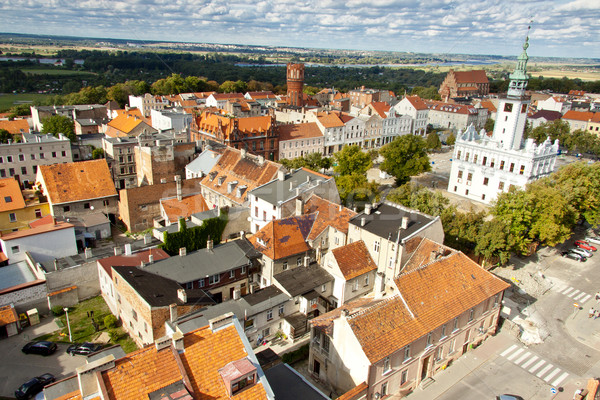 Stock photo: Chelmno aerial view.