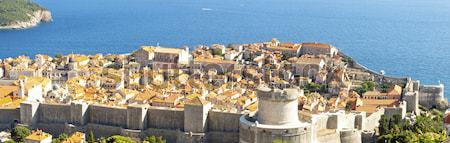 Panorama of Dubrovnik old town. Stock photo © tomasz_parys