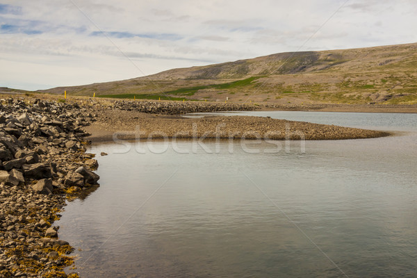 İzlanda görmek yaz bulutlu gün çim Stok fotoğraf © tomasz_parys