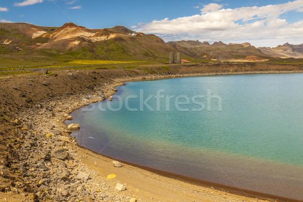 Blue beauty lake - Kleifarvatn, Iceland. Stock photo © tomasz_parys