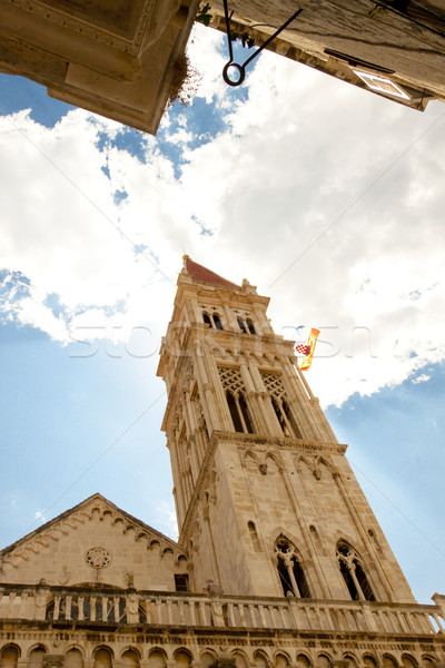 Catherdal of st. lawrence in Trogir, Croatia. Stock photo © tomasz_parys