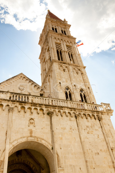 Catherdal of st. lawrence in Trogir Stock photo © tomasz_parys