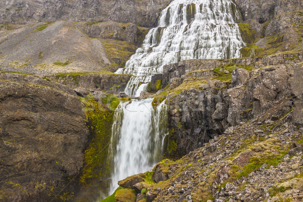 Beauty big Dynjandi waterfall - Iceland, Westfjords. Stock photo © tomasz_parys