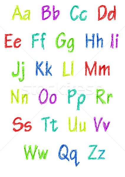 Full colorful alphabet Stock photo © tomasz_parys