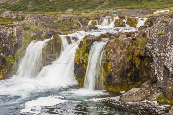 Detail of Dynjandi waterfall - Iceland. Stock photo © tomasz_parys