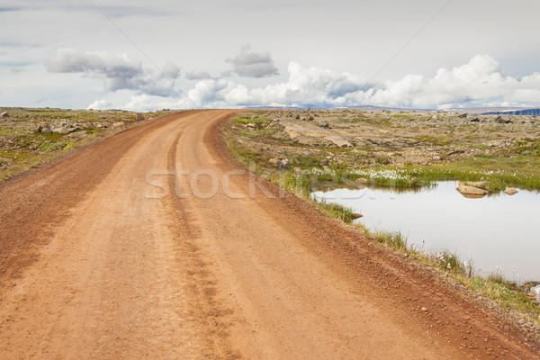Stockfoto: Grind · land · route · IJsland · water · zee