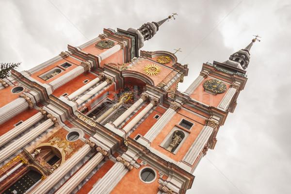 église Pologne beauté vieux ciel Photo stock © tomasz_parys