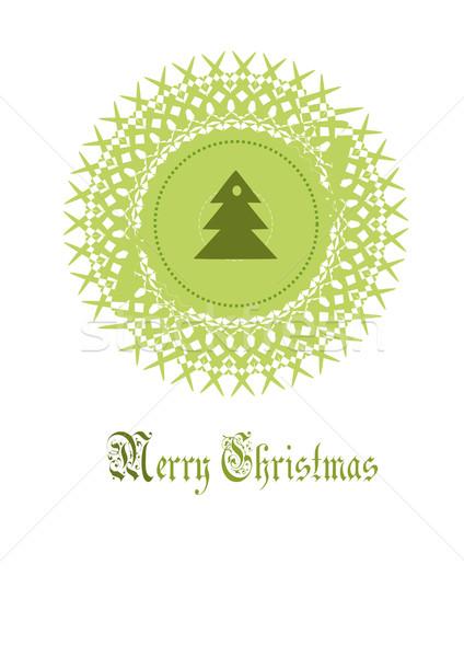 Noël décoration épinette centre bois forêt Photo stock © tomasz_parys