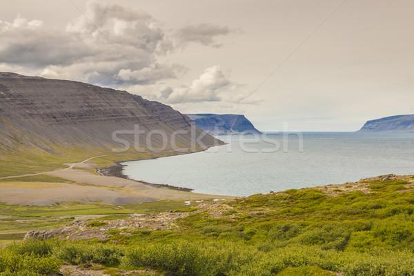 Сток-фото: мнение · Исландия · маршрут · небе · трава · природы