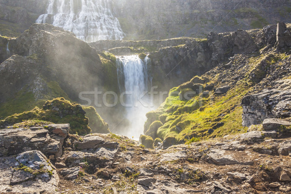Iceland - Dynjandi waterfall. Stock photo © tomasz_parys
