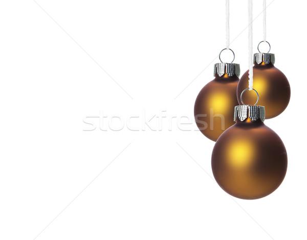Noel dekorasyon bronz üç kahverengi Stok fotoğraf © Tomjac1980