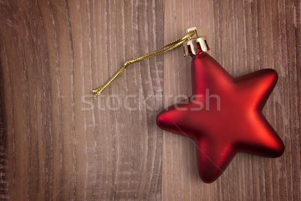 Natale ornamento rosso star legno stelle Foto d'archivio © Tomjac1980