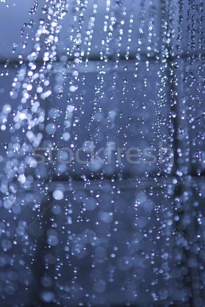 душу Jet работает воды Насадка для душа капли воды Сток-фото © Tomjac1980