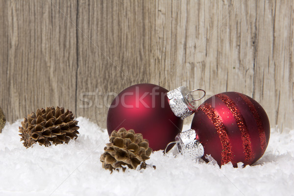 christmas, christmas ornament red and brown Stock photo © Tomjac1980