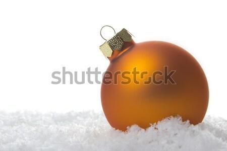 christmas ornament orange Stock photo © Tomjac1980