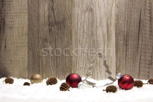 christmas ornament red and brown Stock photo © Tomjac1980