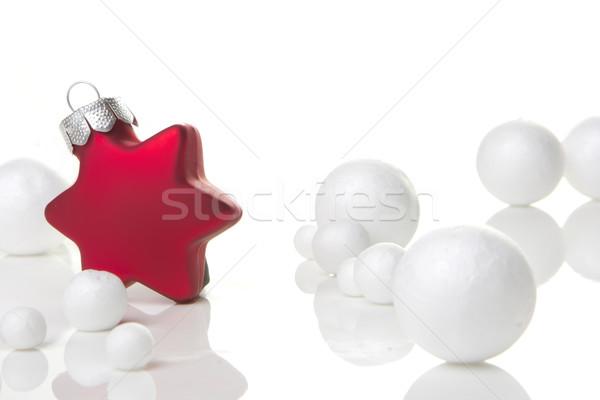 Noel süs kırmızı dekorasyon önemsiz şey beyaz Stok fotoğraf © Tomjac1980