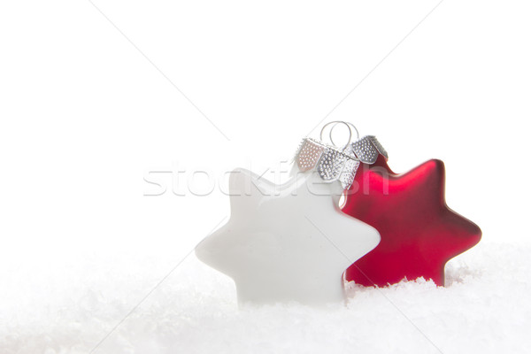christmas ornament red and white Stock photo © Tomjac1980