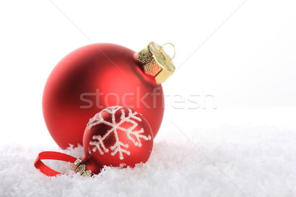 Сток-фото: Рождества · орнамент · красный · белый · шаблон