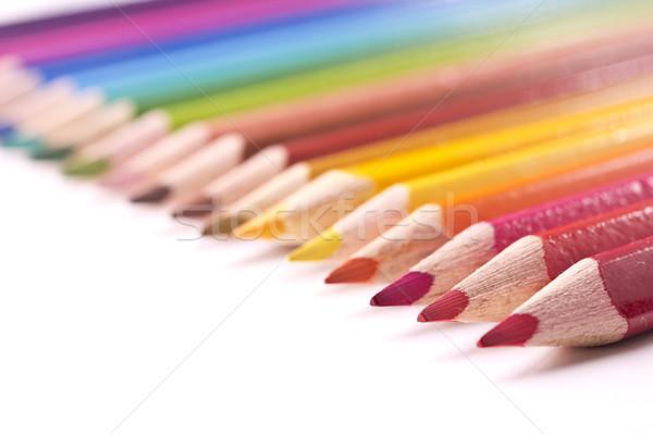Stok fotoğraf: Kalemler · renkli · yalıtılmış · beyaz · kalem · boya