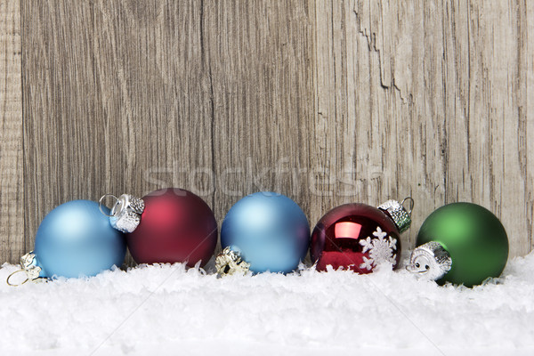 christmas ornament red, blue and green Stock photo © Tomjac1980