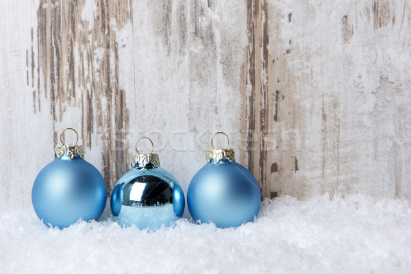 christmas ornament blue Stock photo © Tomjac1980
