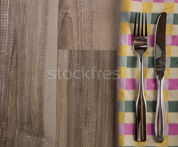teatowel with cutlery Stock photo © Tomjac1980