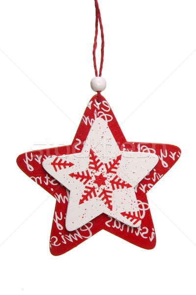 star for christmas red and white Stock photo © Tomjac1980