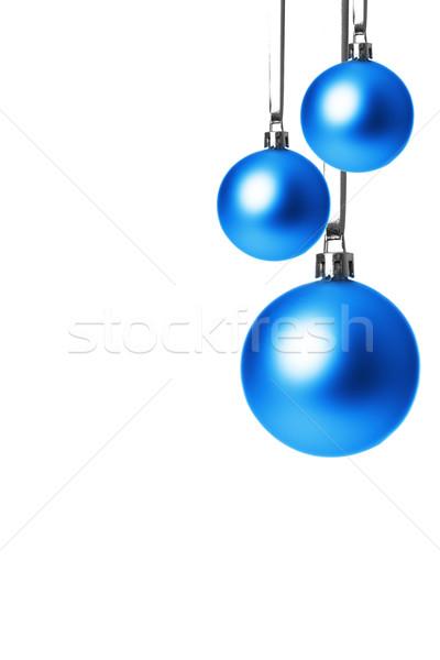 Stock photo: christmas, christmas ornament blue