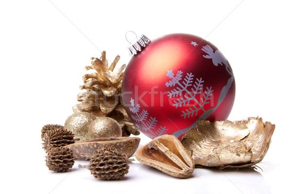 Noel dekorasyon önemsiz şey noel ağacı çam ağaç Stok fotoğraf © Tomjac1980