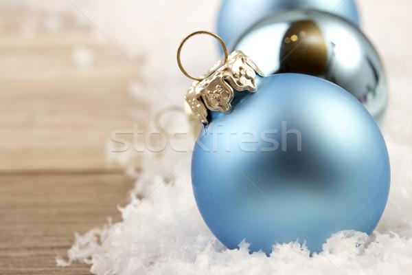 christmas, christmas ornament blue Stock photo © Tomjac1980