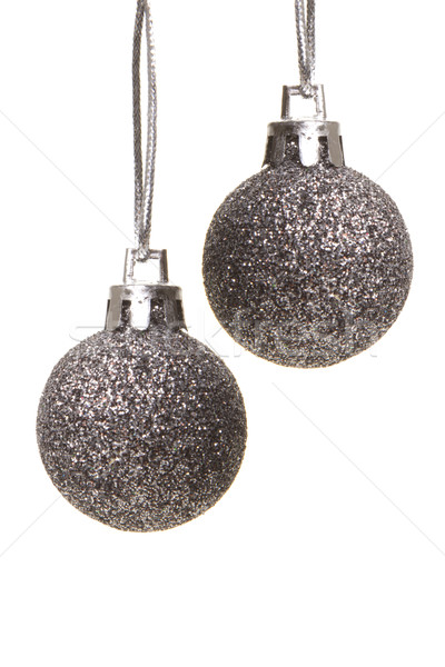christmas baubles silver Stock photo © Tomjac1980