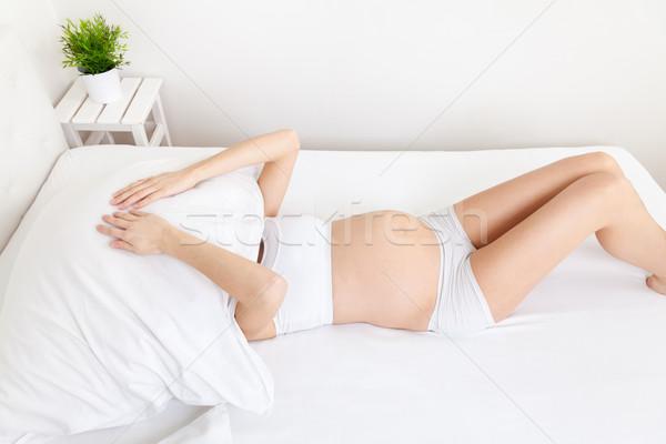 Dormir problemas embarazo mujer embarazada salud madre Foto stock © tommyandone