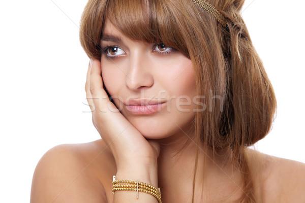 Fabelachtig naar vrouw mooie jonge vrouw perfect Stockfoto © tommyandone