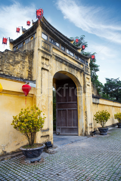 Gate to Imperial Citadel Thang Long in Hanoi Stock photo © tommyandone
